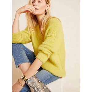 Anthropologie yellow Simone sweater